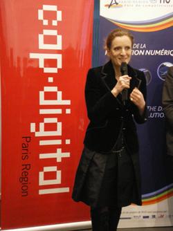 Visite de Nathalie Kosciusko-Morizet à l'Institut de la Vision sur le thème TIC & Santé le jeudi 11 février