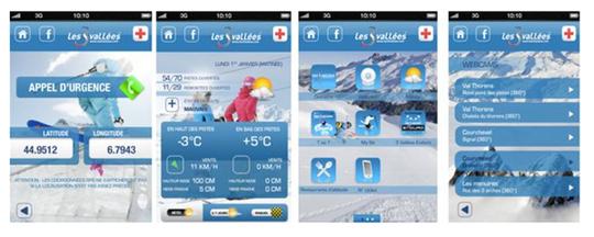 Une nouvelle application Iphone pour le domaine des Trois Vallées
