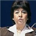 Corinne Lepage, candidate de Cap 21 à la présidentielle, le 31 janvier 2007 à Paris
