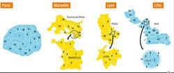 La nouvelle carte électorale prévue pour 2012