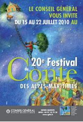 Le Festival du Conte des Alpes-Maritimes fêtera ses 20 ans du 15 au 22 juillet 2010