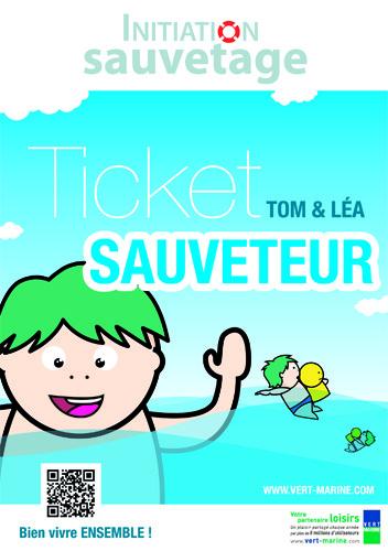 """Rentrée 2011 : Vert Marine lance le """"Ticket Sauveteur"""", un nouvel outil pédagogique d'initiation au sauvetage en milieu aquatique à destination des élèves du primaire"""