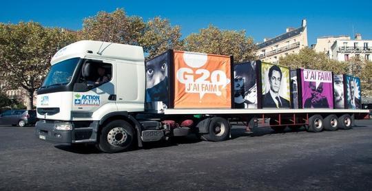 Le camion contre la faim arrive à l'alterforum de Nice