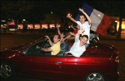 Liesse populaire à Paris