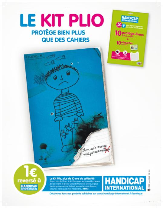 Le kit plio de Handicap International protège bien plus que les livres