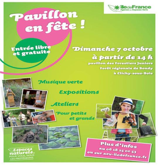""""""" Pavillon en fête ! """" en Forêt régionale de Bondy – Seine-Saint-Denis"""