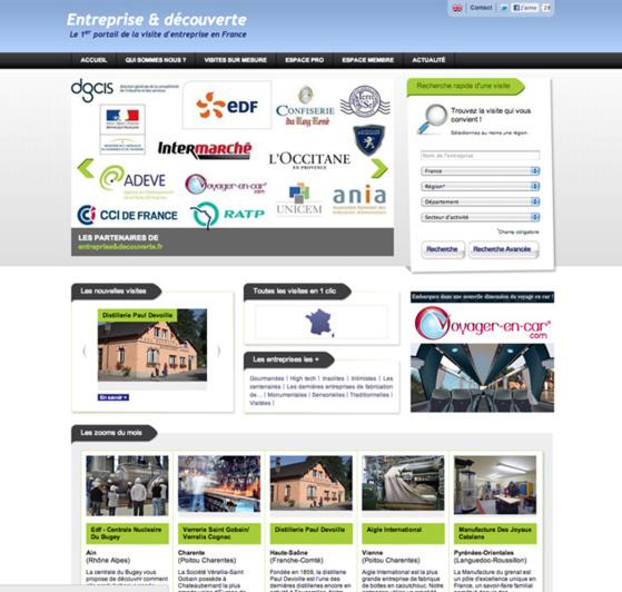 www.entrepriseetdecouverte.fr, un portail qui recense pour la première fois l'ensemble des entreprises ouvertes au public en France