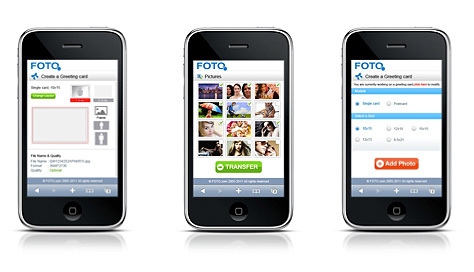 Des cartes de voeux personnalisées depuis un smartphone