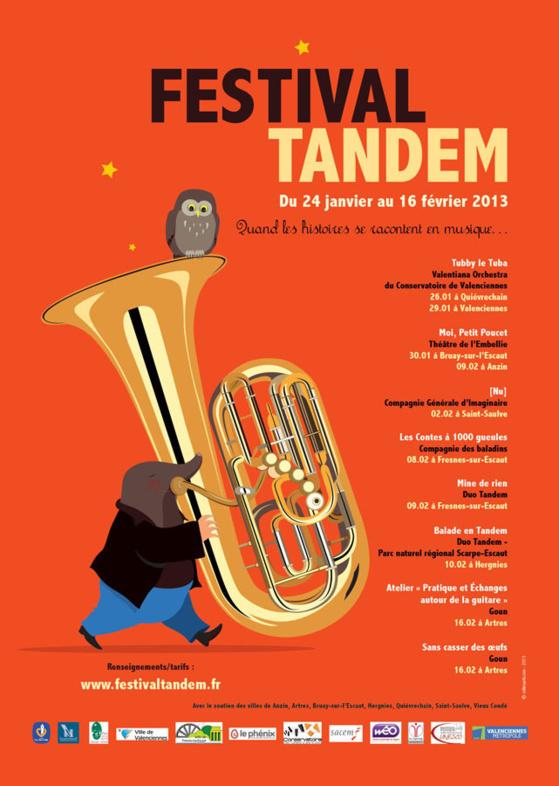 Le Festival Tandem, quand les histoires se racontent en musique…reprend les routes et chemins du Valenciennois du 24 janvier au 16 février prochain