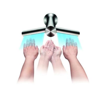 Dyson Airblade Tap : avant, Dyson séchait les mains. Désormais il les lave