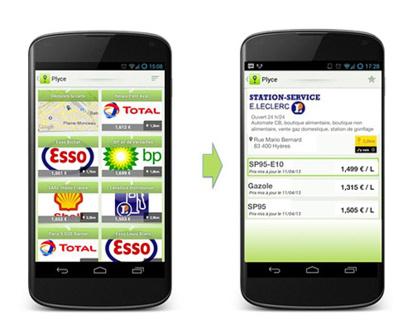 """Lancement de l'application Plyce """"Essence"""" sur Android"""