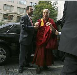 L'arrivée du Dalai Lama à Washington, lundi
