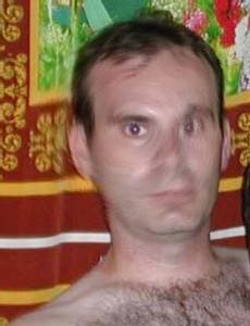 La photo du suspect après décryptage