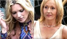 Toutes griffes dehors, le super-modèle Kate Moss a dégringolé dans le classement des femmes les plus élégantes, dépassée même par JK Rowling