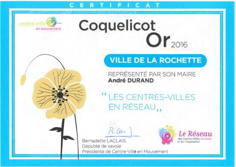 La Rochette a reçu comme la ville de Sceaux cette exceptionnelle distinction